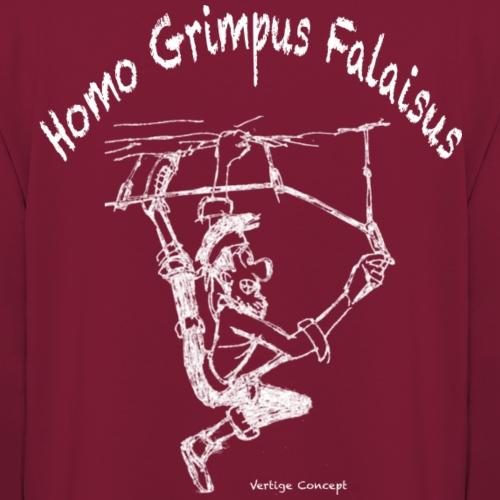 Esquisse grimpeur blanc Homo Grimpus Falaisus - Sweat-shirt à capuche unisexe