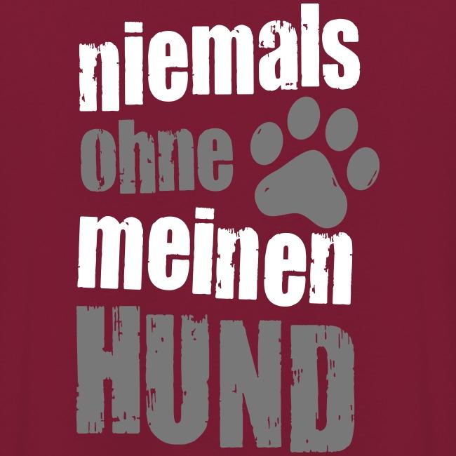 Vorschau: niemals ohne meinen hund - Unisex Hoodie