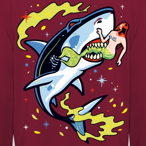 Requin mangeur de sirène - Sweat-shirt à capuche unisexe