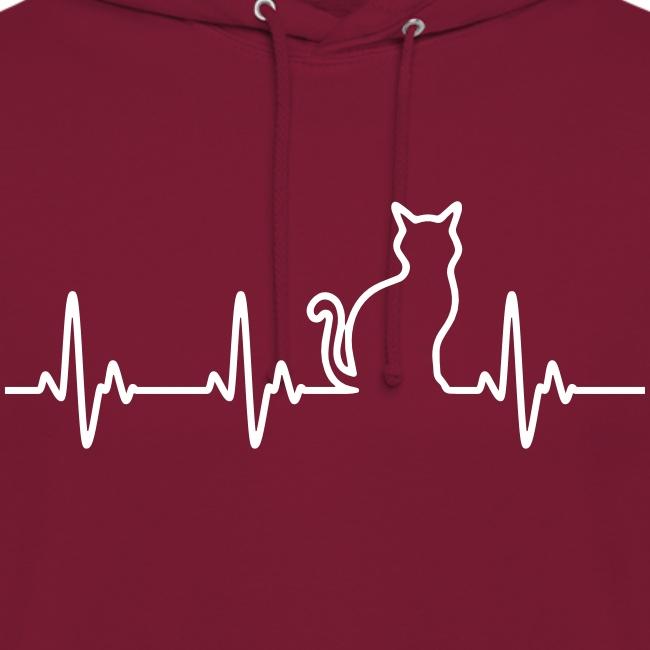 Vorschau: Ein Herz für Katzen - Unisex Hoodie