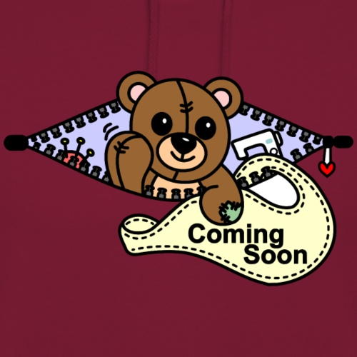 Bärchen Nähmaschine Coming Soon - Unisex Hoodie