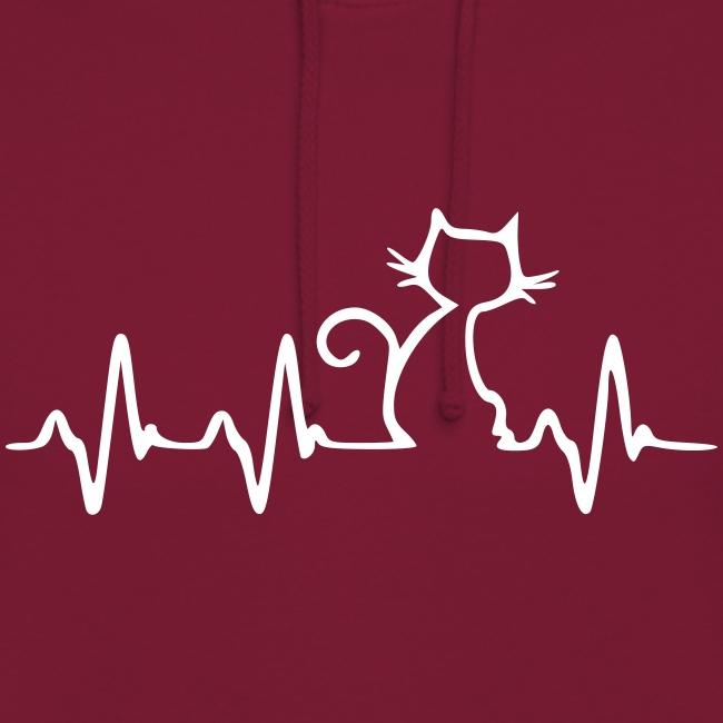 Vorschau: Cat Heartbeat - Unisex Hoodie
