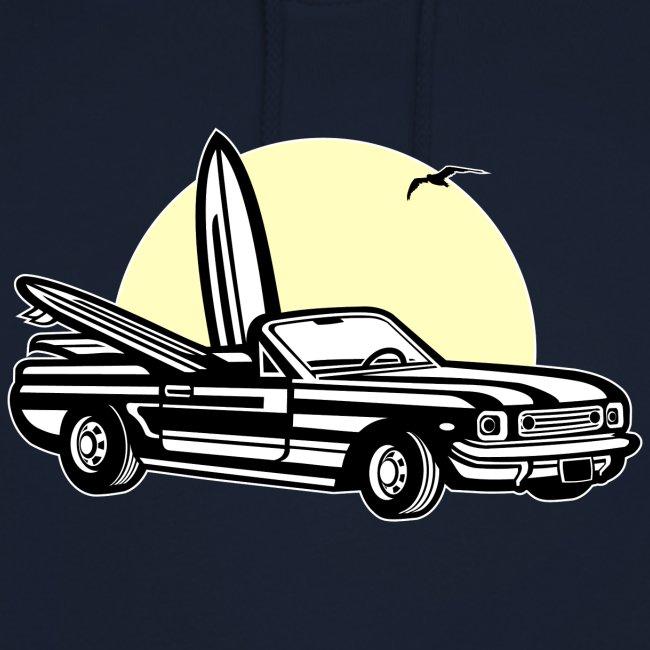 Muscle Car im Sonnenuntergang 01_dreifarbig