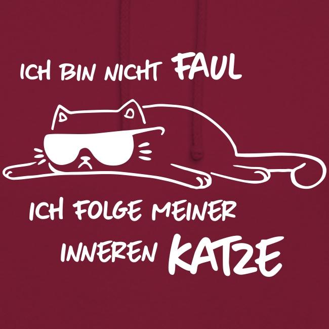 Vorschau: Faul inneren Katze - Unisex Hoodie