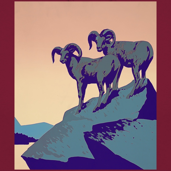Vintage Capricorn Travel Poster