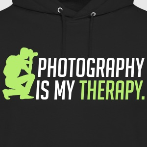 Photography is my therapy - therapy - Unisex Hoodie