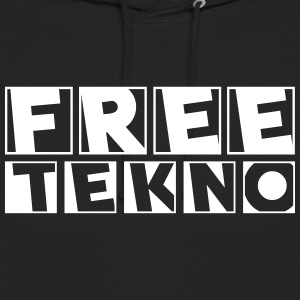 freetekno - Sweat-shirt à capuche unisexe