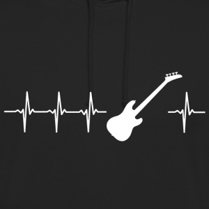 I love electric guitar (guitar heartbeat) - Unisex Hoodie