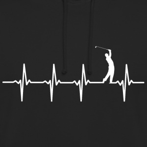 Your heart beats for golf? - Unisex Hoodie