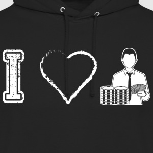 I love poker poker - Sweat-shirt à capuche unisexe