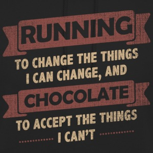Funny Quotes> Running + Chocolate - Unisex Hoodie