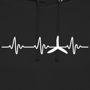 FPV - Quadrocopter Racing Heartbeat - Unisex Hoodie