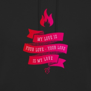love love brand Retro tappning Flame rosa band - Luvtröja unisex