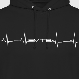 EMTB Heartbeat - White - Unisex Hoodie