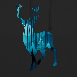 Deer in the woods in the evening - Unisex Hoodie