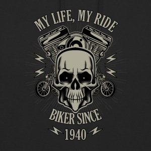 Gift for Biker - built in 1940 - Unisex Hoodie