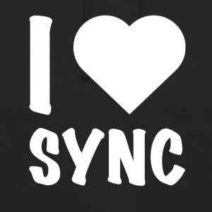 DJ - I Love Sync - Sweat-shirt à capuche unisexe