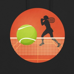 Tenniskreis with player and ball - Unisex Hoodie