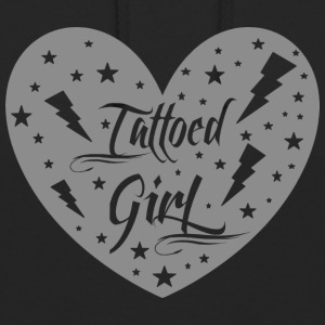 tattoed_girl_grey - Unisex-hettegenser