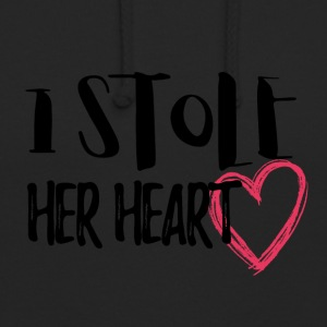 Wedding / Marriage: I stole her heart - Unisex Hoodie