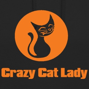 crazy cat lady 1 - Bluza z kapturem typu unisex