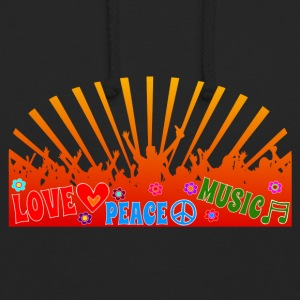 Peace Love Music Logo - Luvtröja unisex