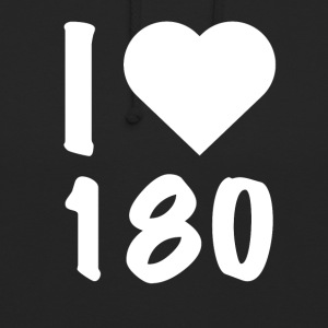 Darts - I Love 180 - Sweat-shirt à capuche unisexe