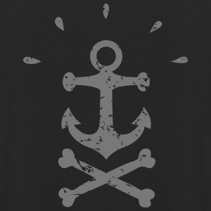 Pirate Anchor black - Luvtröja unisex