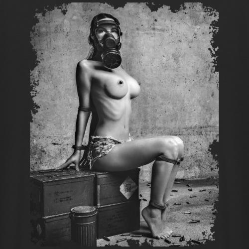 Sexy Girl mit Gasmaske gefesselt - unzensiert - Unisex Hoodie
