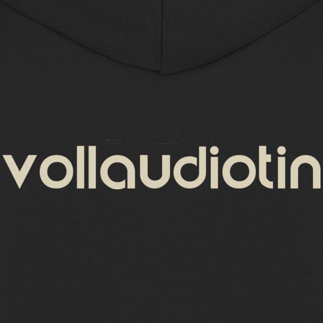 Vollaudiotin auf dem Rücken