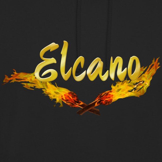 ELCANO Schriftzug mit Fackel