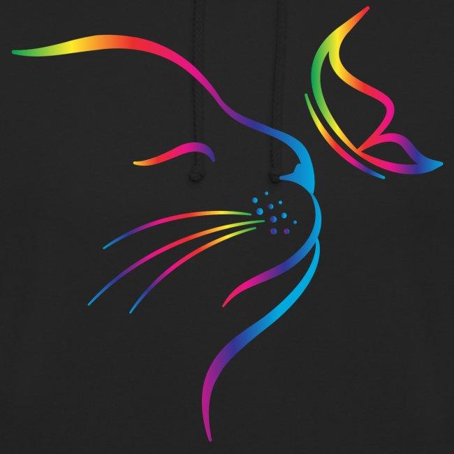 Vorschau: rainbow butterfly cat - Unisex Hoodie
