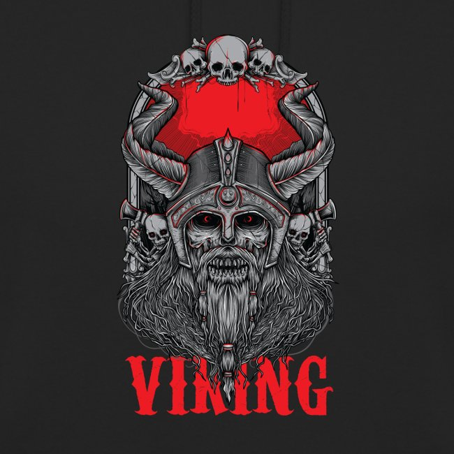 Viking T Shirt Design red