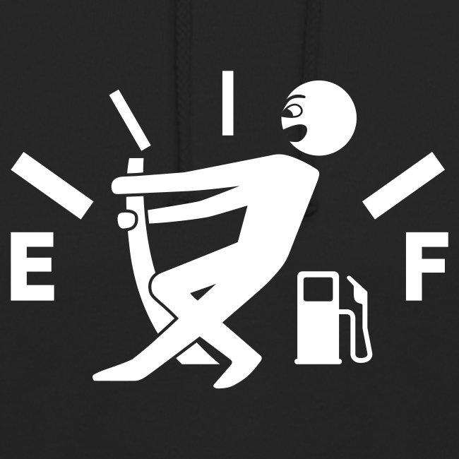 Empty tank - no fuel - fuel gauge