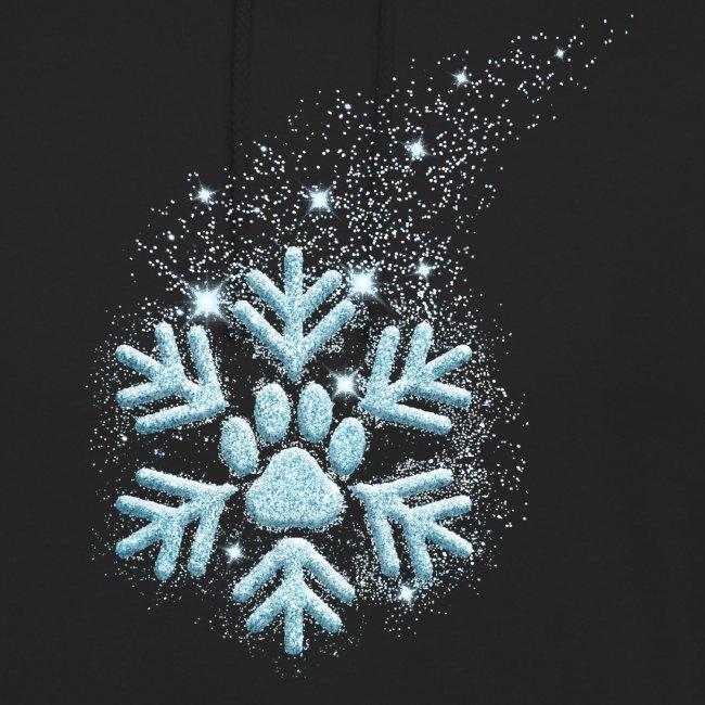 Vorschau: dog paw snowflake - Unisex Hoodie