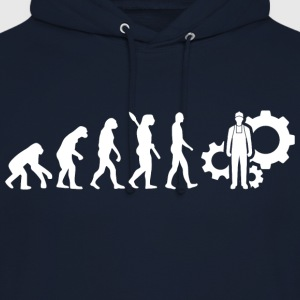 technicien technologie Evolution Blanc - Sweat-shirt à capuche unisexe