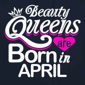 Queens født i april - Unisex-hettegenser