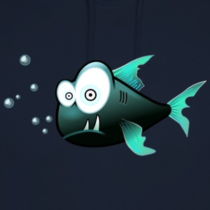 confus Piranha - Sweat-shirt à capuche unisexe