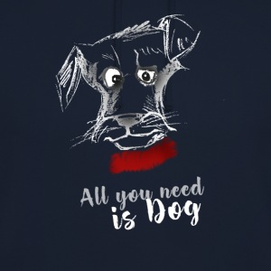 dog dog terrier drawing pointing - Unisex Hoodie