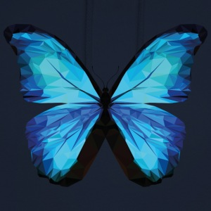 BUTTERFLY POLYGON in blue - Unisex Hoodie
