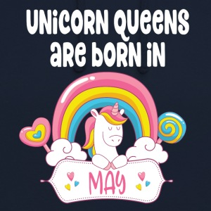 Unicorn Queens are born in May - Unisex Hoodie