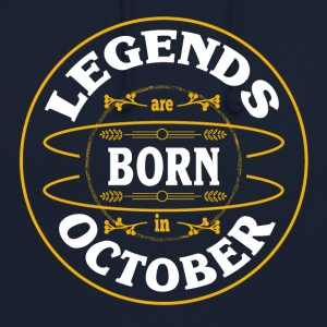 Birthday October legends born gift birth - Unisex Hoodie