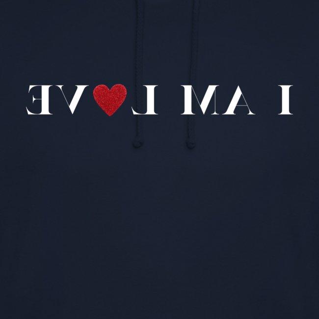 I AM LOVE Peilikuva Affirmaatio Valkoinen