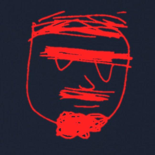 Ghemba stilizzato rosso