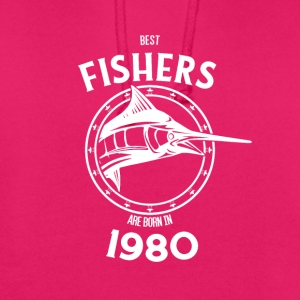 Present for fishers born in 1980 - Unisex Hoodie