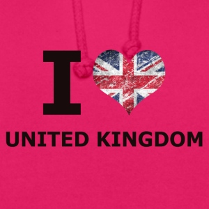 I LOVE UNITED KINGDOM FLAG - Unisex Hoodie