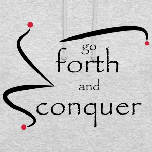 go_forth_red_black - Unisex Hoodie