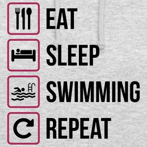 Eat Sleep Nuoto Repeat - Felpa con cappuccio unisex