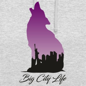 Wolf im New York Design - Big City Life - Unisex Hoodie
