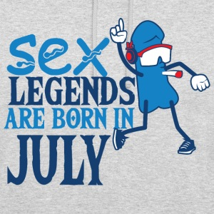 Birthday July penis sex legends born gifts - Unisex Hoodie